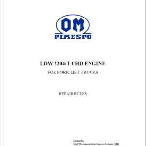 OM Pimespo LDW 2204/T CHD Engine For Forklift Trucks Shop Manual