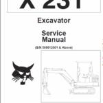 Bobcat X231 Excavator Service Manual