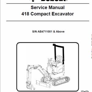 Bobcat 418 Compact Excavator Service Manual