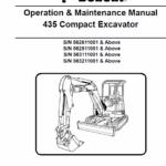 Bobcat 435 Compact Excavator Repair Service Manual