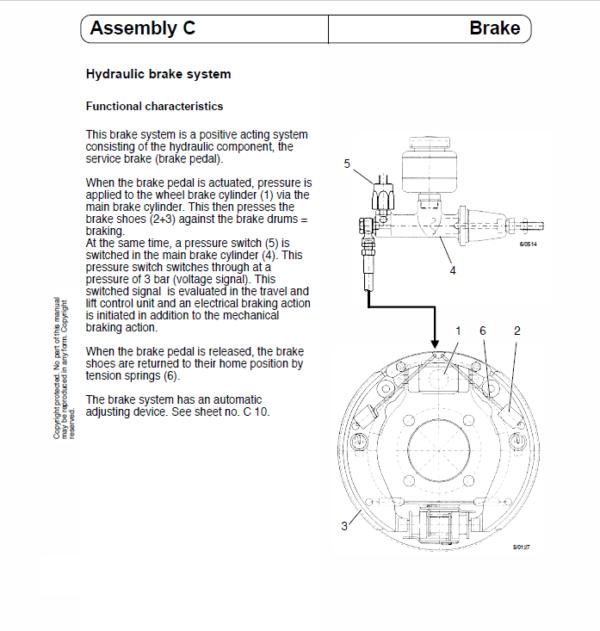 OM Pimespo ETL13 Forklift Workshop Manual