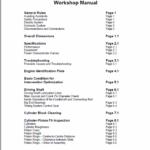 OM Pimespo LDW 2204/T CHD Engine For Forklift Trucks Shop Manual
