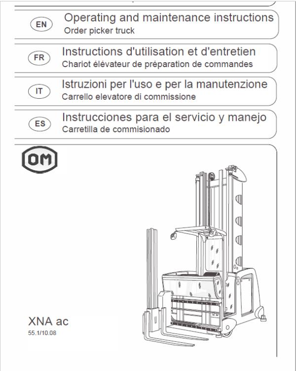 OM Pimespo XNA ac – Generation 3 48v Side Loader Workshop Repair Manual