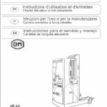 OM Pimespo XRac Reach Trucks Workshop Repair Manual