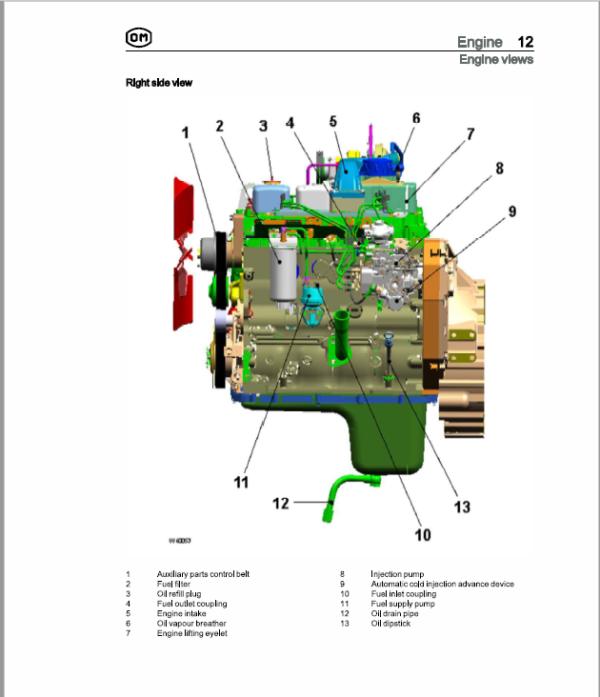 OM Pimespo XD100, XD60, XD70, XD80 Forklift Workshop Manual