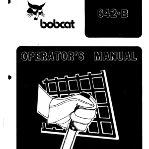Bobcat 642B Skid-Steer Loader Service Manual