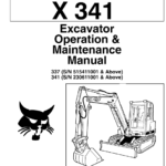 Bobcat X337 and X341 Excavator Service Manual