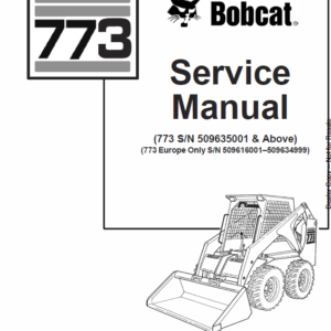 Bobcat 773 Skid-Steer Loader Manual