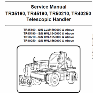 Bobcat TR35160, TR45190, TR50210, TR40250 Telescopic Service Manual
