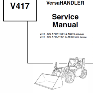 Bobcat V417 VersaHANDLER Telescopic Service Manual