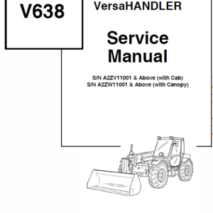 Bobcat V638 VersaHANDLER Telescopic Service Manual