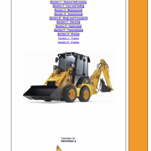 JCB 1CX Backhoe Loader Service Manual