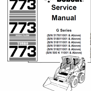 Bobcat 773 G-Series Skid-Steer Loader Manual