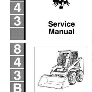 Bobcat 843 and 843B Skid-Steer Loader Manual