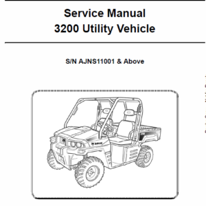 Bobcat 3200 Utility Vehicle Service Manual