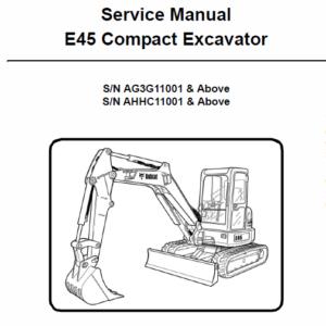 Bobcat E45 Compact Excavator Service Manual