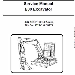 Bobcat E80 Compact Excavator Repair Service Manual