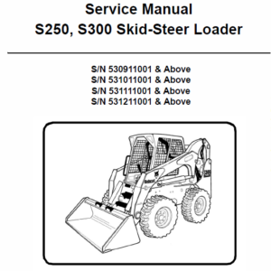 Manual for Bobcat S250 and S300 Skid-Steer Loader