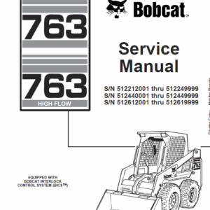Bobcat 763 and 763HF Series Skid-Steer Loader Manual