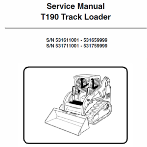 Manual for Bobcat T190 loader