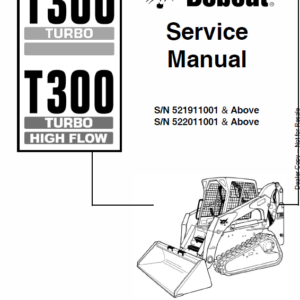 Manual for Bobcat T300 Turbo and Bobcat T300 Turbo High Flow Loader