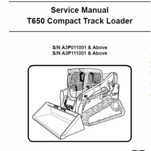Bobcat T650 Loader Service Manual