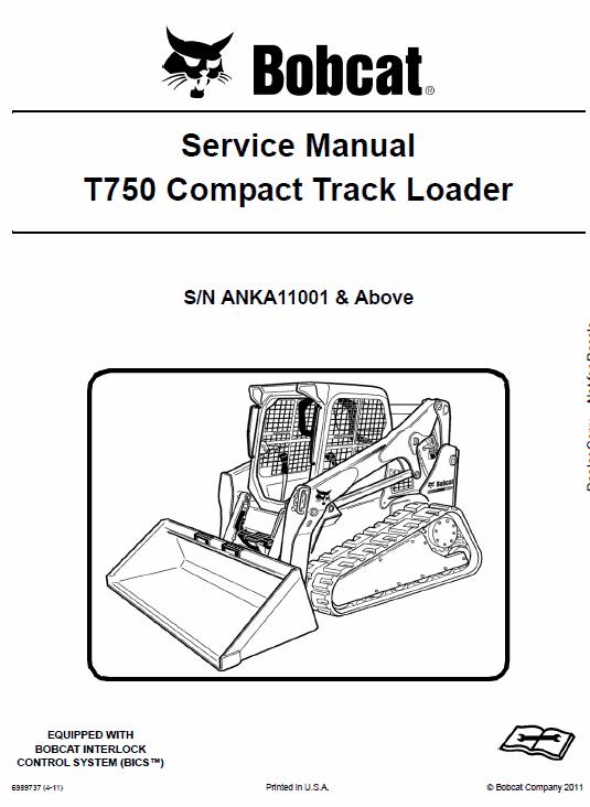 Bobcat T750 Loader Service Manual