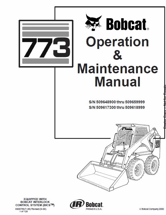 Bobcat 773 Skid-Steer Loader Service Manual