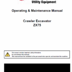Bobcat ZX75 and ZX125 Excavator Service Manual