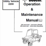 Bobcat 2200 Utility Vehicle Service Manual