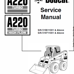 Bobcat A220 Skid-Steer Loader Service Manual