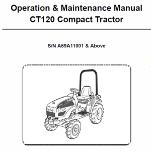 Bobcat CT120 Compact Tractor Service Manual