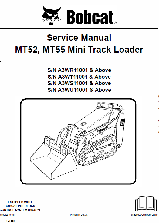 Bobcat MT52 and MT55 Mini Loader Service Manual