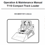 Bobcat T110 Compact Loader Service Manual