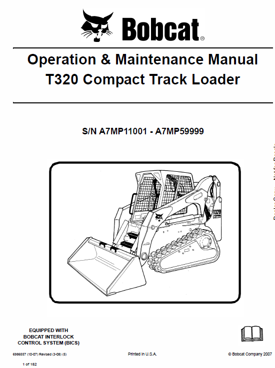Bobcat T320 Loader Service Manual