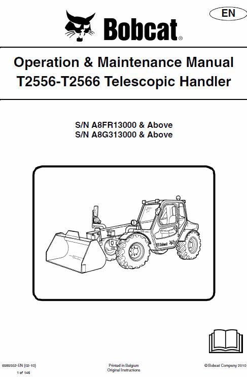 Bobcat T2556 and T2566 Telescopic Handler Service Manual