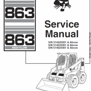 Bobcat 863 and 863H Skid-Steer Loader Manual