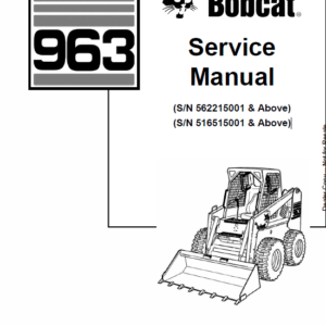 Bobcat 963 Skid-Steer Loader Manual