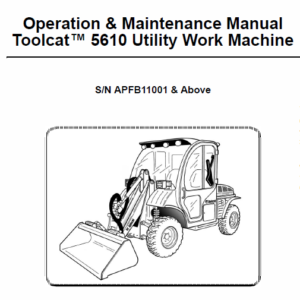Bobcat 5610 Toolcat Utility Vehicle Service Manual