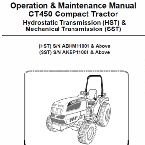 Bobcat CT440, CT445 and CT450 Compact Tractor Service Manual
