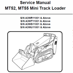 Manual for Bobcat MT52 mini loader and MT55 mini Loader