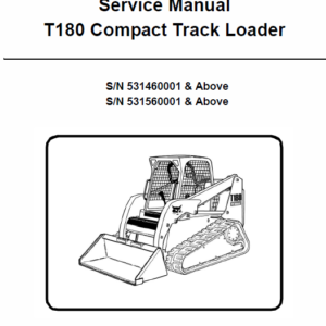 Manual for Bobcat T180 loader