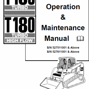 Bobcat T180 Turbo, T180 Turbo High Flow Loaders Service Manual