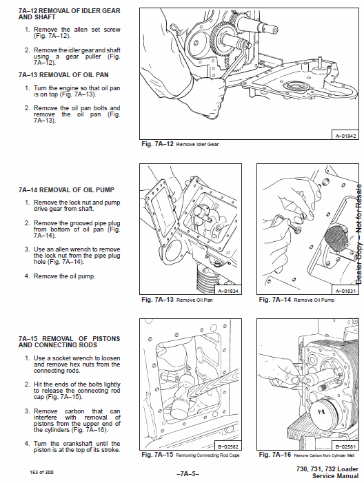 Bobcat 730, 731 and 732 Skid-Steer Loader Service Manual