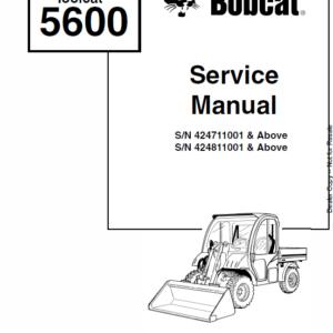 Bobcat 5600 Toolcat Utility Vehicle Service Manual