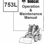 Bobcat 753 and 753HF Skid-Steer Loader Service Manual
