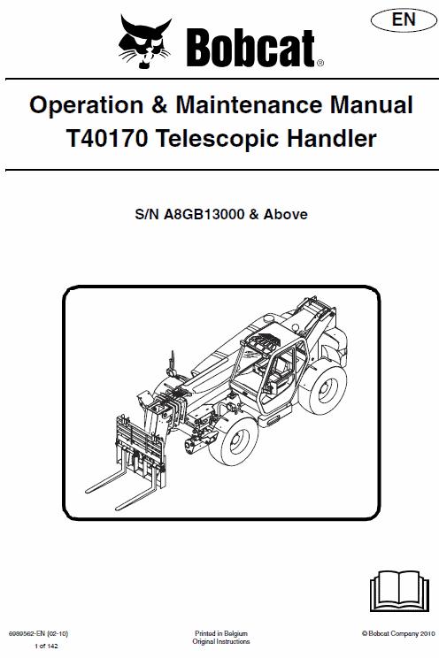 Bobcat T40140 and T40170 Telescopic Handler Service Manual