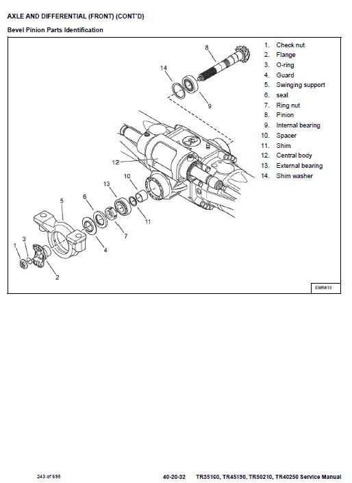 Bobcat TR35160, TR45190, TR50210, TR40250 Telescopic Service Manual