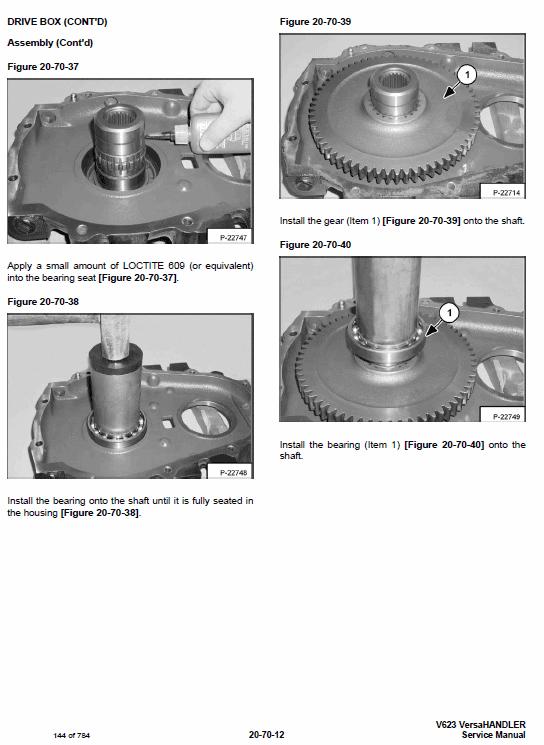 Bobcat V623 VersaHANDLER Telescopic Service Manual