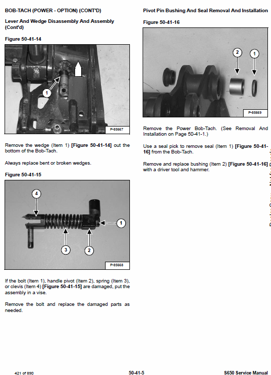 Bobcat S630 Skid-Steer Loader Service Manual